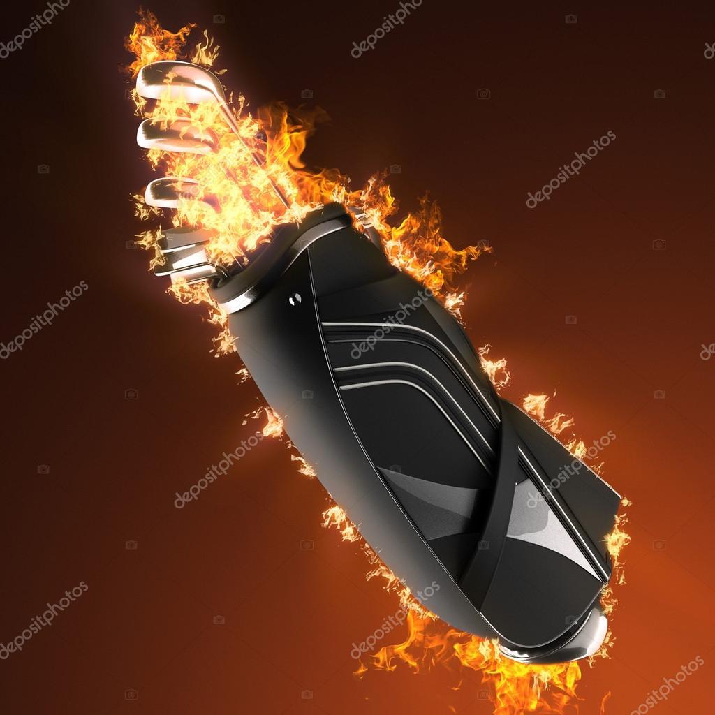49a25e295397e Palos de golf drivers en fuego — Fotos de Stock © icetray  84520106