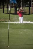 bít písečných bunkr výstřel golfisty