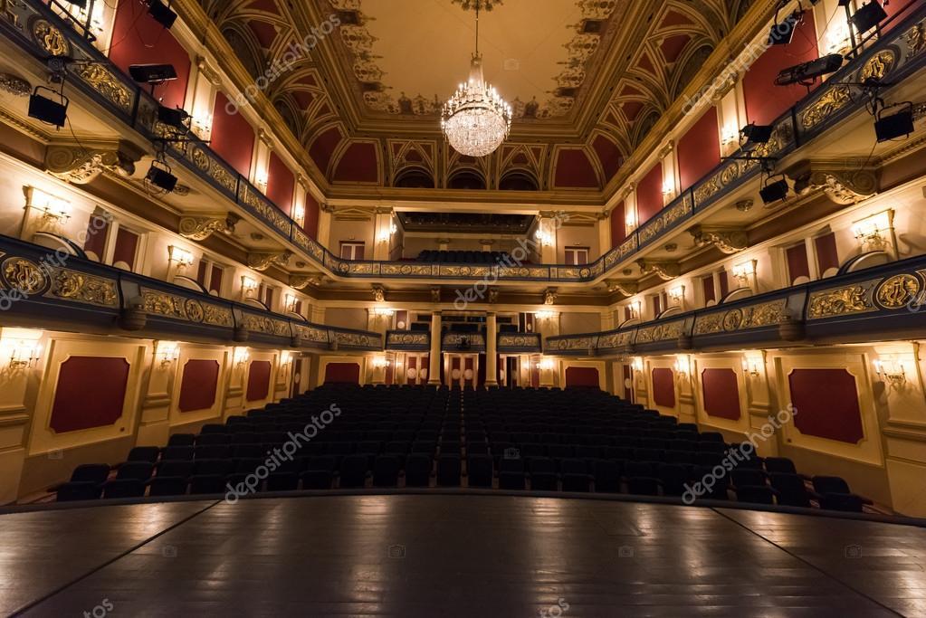 Empty Theatre Stage Stock Photo