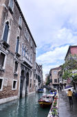 Photo Venice Italy view with gondolas