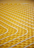 Fotografie Gelbe Fußbodenheizung