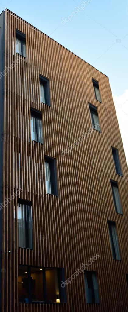 Modern Wood Facade Of Building Stock Photo 169 Shock