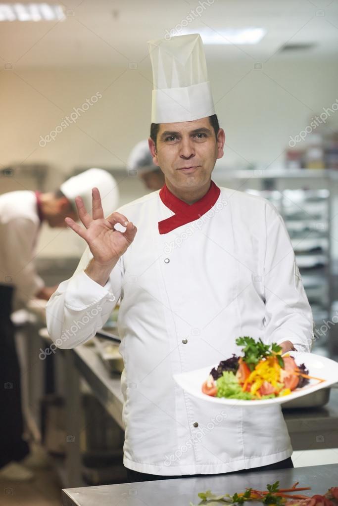 Koch in der Küche Hotelansicht — Stockfoto © .shock #82104866