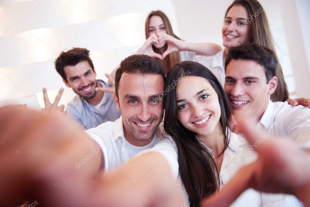 Nackte Freunde Selfies