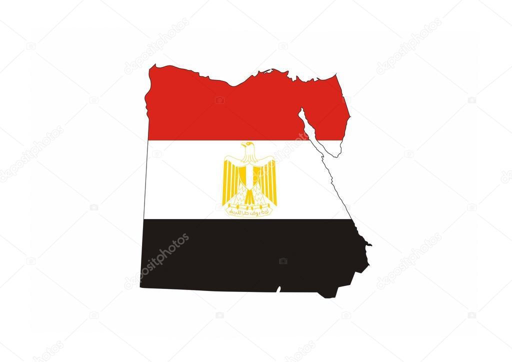 Egypte Vlag Kaart Stockfoto Tony4urban 67419985