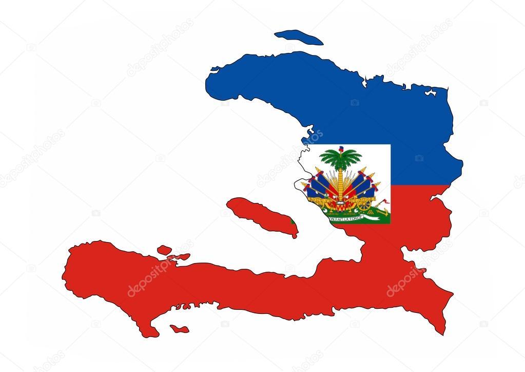 Mapa de la bandera de hait fotos de stock tony4urban 71252059 haiti country flag map shape national symbol foto de tony4urban gumiabroncs Image collections