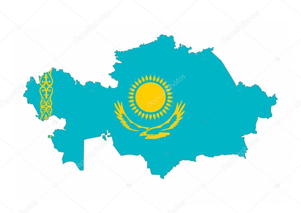 Mapa de bandera de kazajistn fotos de stock tony4urban 71252063 kazakhstan country flag map shape national symbol foto de tony4urban gumiabroncs Images