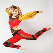 girl jump in gymnastics dance