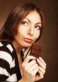 Fotografie Frau essen Schokolade