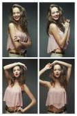 Fotografia Collage di ritratti di giovane donna bionda
