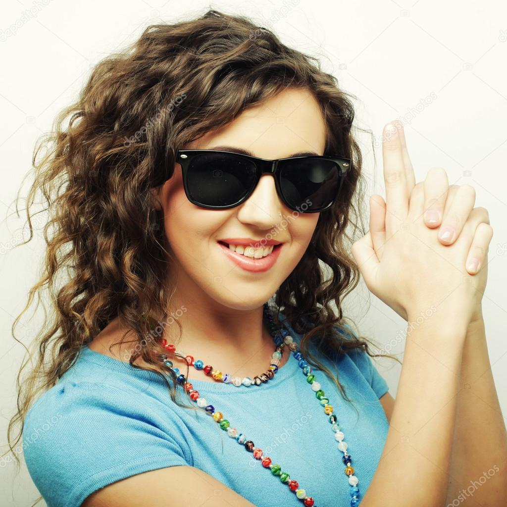 Kanareva Feliz Stock De Sol — Con Fotos © Chica Adolescente Gafas vm0wN8n