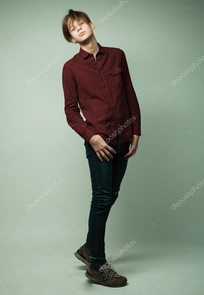 boy young Teen models studio