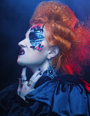Fotografie Gothic Hexe. Dunkle Frau. Halloween-Bild