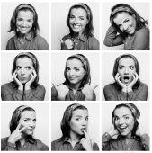 složené výrazy obličeje mladá žena