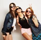 Fotografie Tři stylové sexy bederní dívky nejlepší přátelé