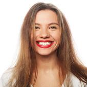 Fotografie Portrét šťastný usměvavá mladá krásná žena