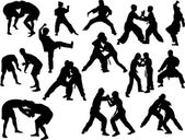 Photo fighters  silhouettes