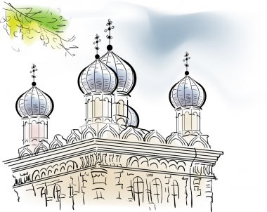orthodox cathedral sketch
