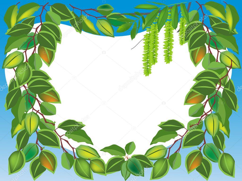 marco de hojas de abedul — Archivo Imágenes Vectoriales © Dr.PAS ...