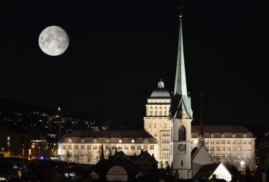 University of Zurich by night