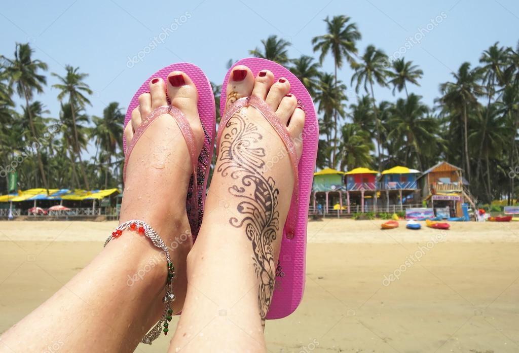 Henna Tattoo On Feet In Goa Stock Photo C Happyalex 69935963