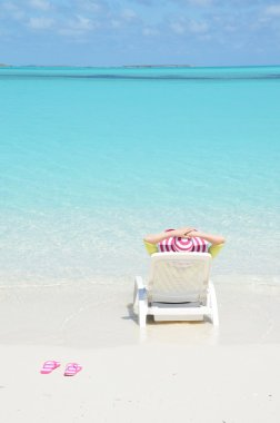 Girl on Bahamas  beach