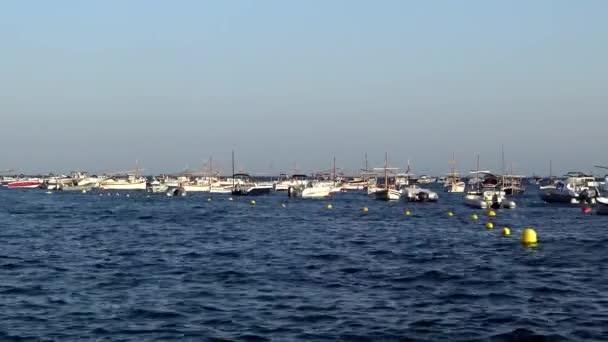 Boats in the ocean en Tamariu (small village in Costa Brava, Catalonia,Spain)