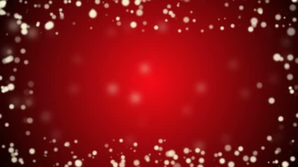 gyönyörű piros karácsonyi háttér buborékok