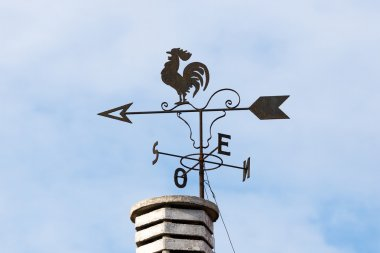 Weathercock on the chimney