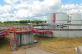Photo Modern urban wastewater treatment plant