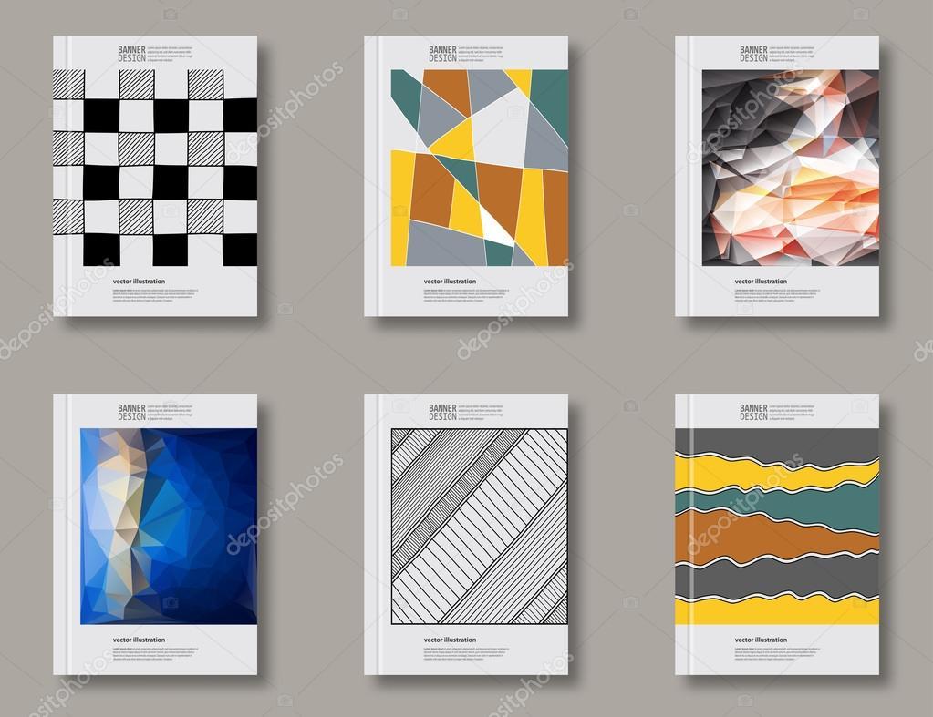 Conjunto de plantillas de diseño abstracto — Archivo Imágenes ...