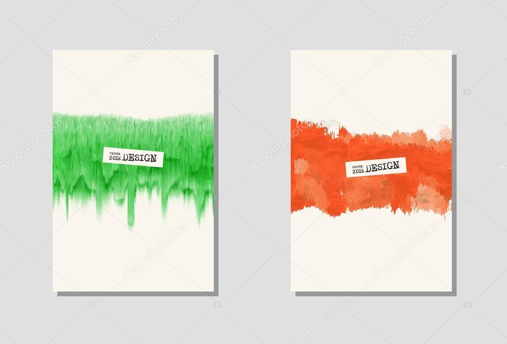 Vektor-Farbe-Farbe-Plakat-Vorlagen — Stockvektor © sdmixx #119643092