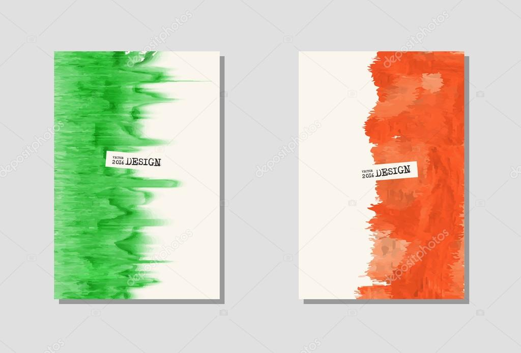 Vektor-Farbe-Farbe-Plakat-Vorlagen — Stockvektor © sdmixx #119643116