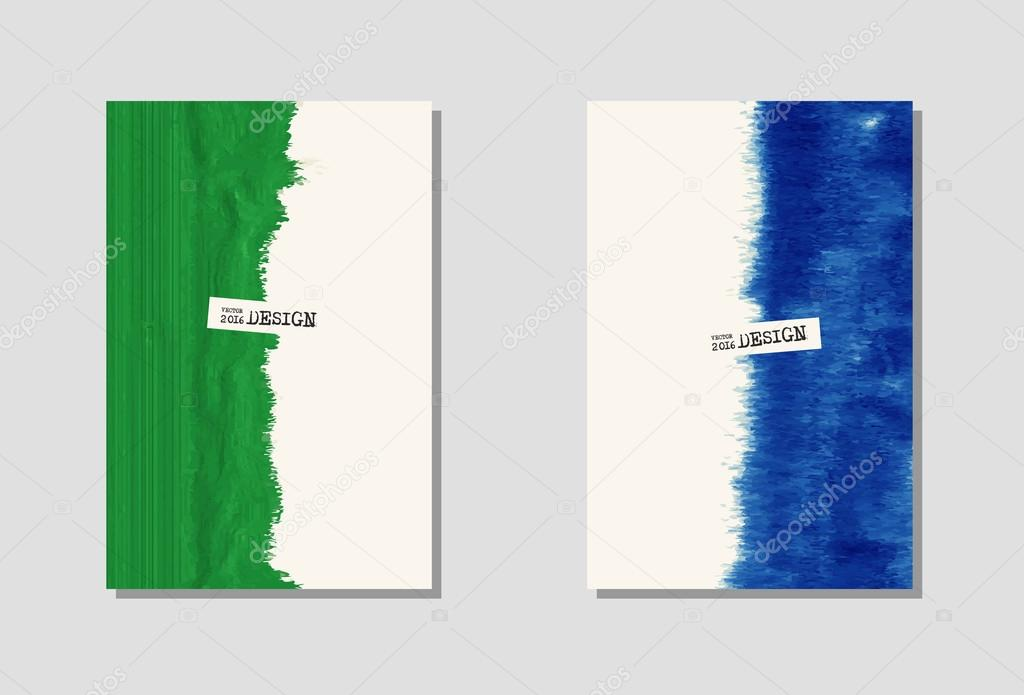 Vektor-Farbe-Farbe-Plakat-Vorlagen — Stockvektor © sdmixx #119643166