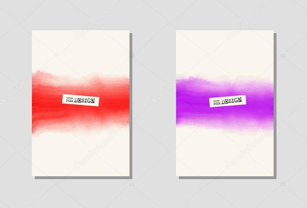 Vektor-Farbe-Farbe-Plakat-Vorlagen — Stockvektor © sdmixx #119643198