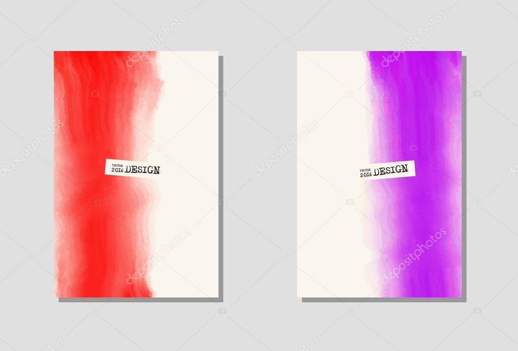 Vektor-Farbe-Farbe-Plakat-Vorlagen — Stockvektor © sdmixx #119643216