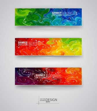 Web design templates. Set of Banners