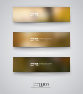 Business design templates. Set of Banners with Multicolored Blured Backgrounds