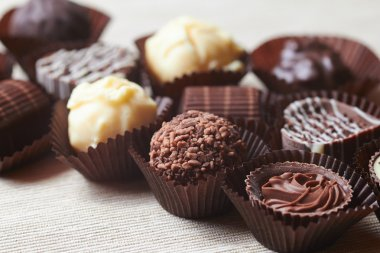 Tasty chocolate sweets