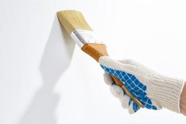 man work with brush