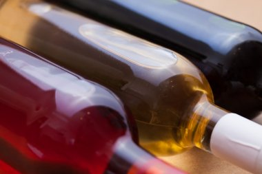 set of wine in bottles