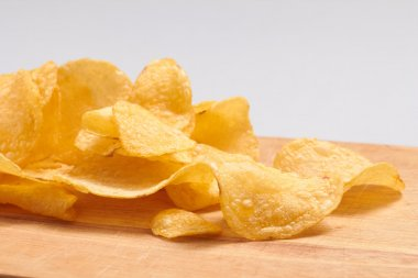 potato chips close up