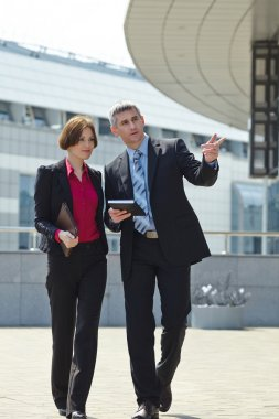 Sucessful businessman and woman