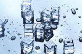 Photo Wet ice cubes