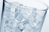 Photo Glass with ice cubes