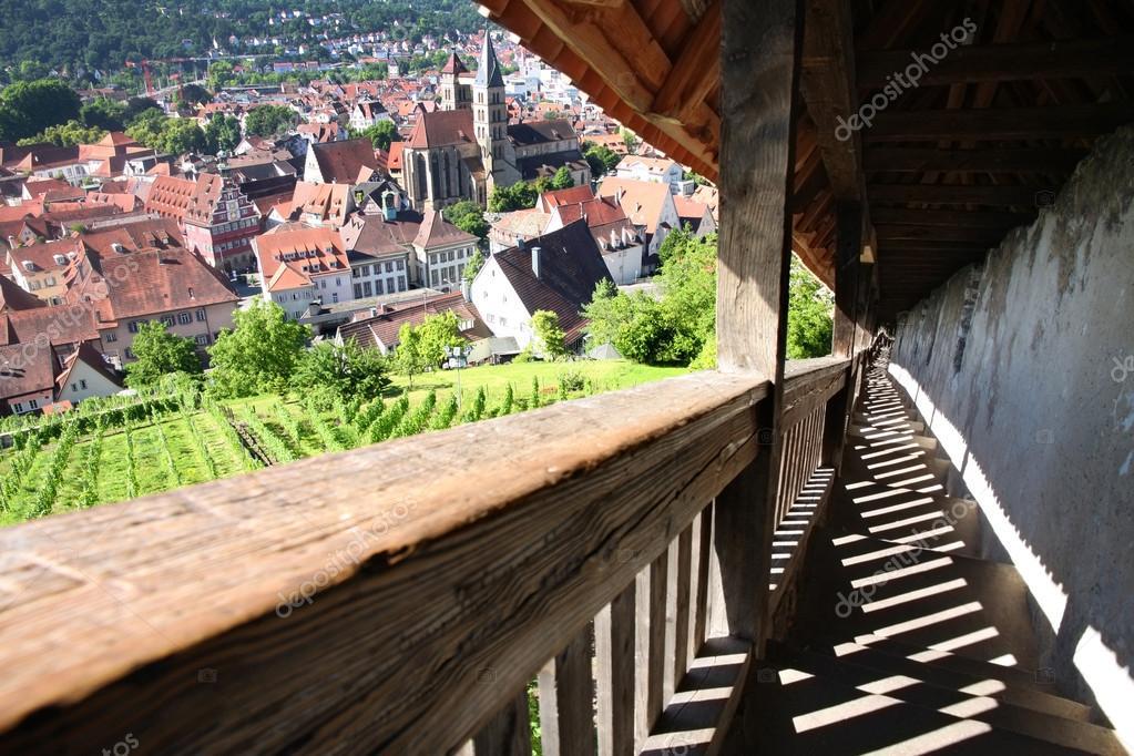Esslingen Am Neckar Ansichten Von Schloss Burg In Der Nähe Von