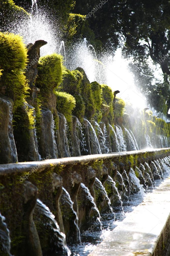 Fontane Brunnen.Le Cento Fontane Villa D Este Brunnen Und Garten In