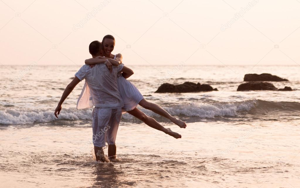 Love story on the beach