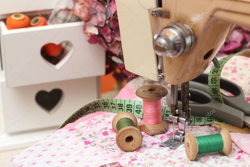 Sewing Machine Dressmaker Scissors And Threadstyle Retro Stock Inspiration How To Thread Dressmaker Sewing Machine