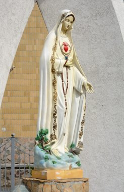 Kemerovo, the statue of the virgin Mary near Catholic Church of the Immaculate Heart of the blessed virgin Mary